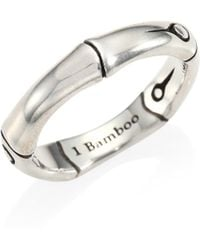 John Hardy - Bamboo Sterling Silver Band Ring - Lyst