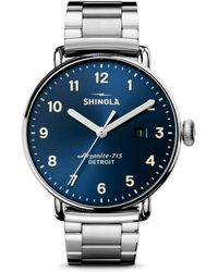 Shinola - The Canfield Chronograph Stainless Steel Bracelet Watch - Lyst