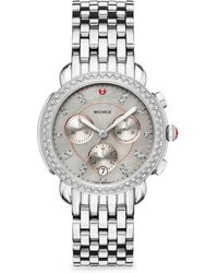 Michele Watches - Sidney Stainless-steel Diamond Dial Bracelet Watch - Lyst