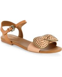 See By Chloé - Clara Bow Leather Flat Sandals - Lyst