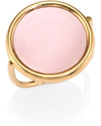 Ginette NY - Ever Pink 18k Rose Gold & Mother-of-pearl Disc Ring - Lyst