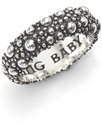 King Baby Studio - Textured Sterling Silver Band Ring - Lyst