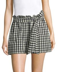 Joie - Cleantha Gingham Shorts - Lyst