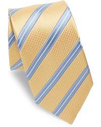 Ike Behar - Yellow & Blue Stripe Tie - Lyst
