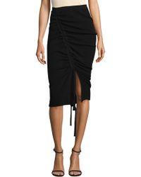 MILLY - Tunnel Drawstring Skirt - Lyst