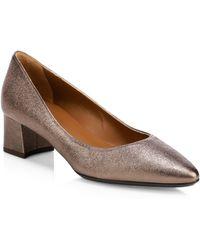 Aquatalia - Pasha Metallic Leather Court Shoes - Lyst