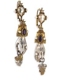 Alexander McQueen | King And Queen Drop Earrings | Lyst