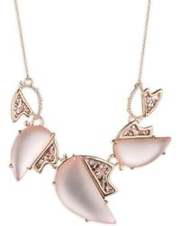 Alexis Bittar - Crystal Accented Abstract Tulip Large Bib Necklace - Lyst