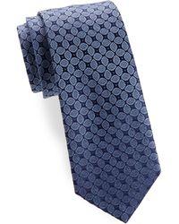 Charvet - Leaf Allover Silk Tie - Lyst