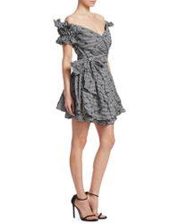 Jonathan Simkhai   Ruched Mini Wrap Dress   Lyst
