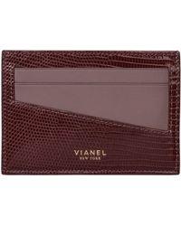 Vianel - Lizard & Leather Card Case - Lyst
