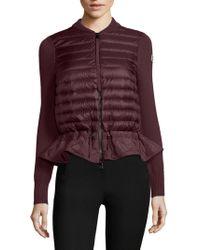Moncler - Maglione Knit Peplum Jacket - Lyst