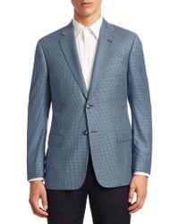 Emporio Armani - Tonal Geometric G Line Jacket - Lyst
