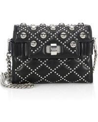 Miu Miu - Studded Leather Chain Shoulder Bag - Lyst