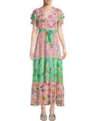 Banjanan - Jaya Contrast Print Maxi Dress - Lyst