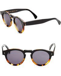 Illesteva - 48mm Leonard Half Half Round Sunglasses - Lyst