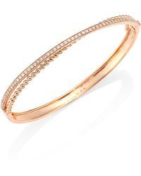 Hueb - Bubbles Diamond & 18k Rose Gold Bangle Bracelet - Lyst
