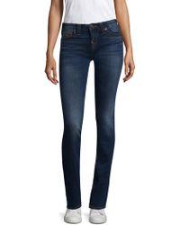 True Religion - Billie Mid-rise Straight-leg Jeans - Lyst