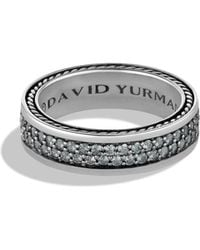 David Yurman - Streamline Gray Sapphire Two-row Band Ring - Lyst