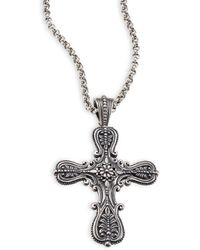 Konstantino - Penelope Etched Sterling Silver Cross Pendant - Lyst