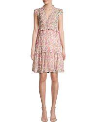 Banjanan - Chandra Silk Floral Dress - Lyst