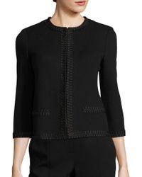 St. John - Embellished Milano Knit Jacket - Lyst