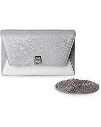 Akris - Anouk Mini Leather Envelope Clutch - Lyst