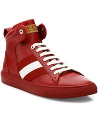 Bally - Hedern Leather High-top Sneakers - Lyst