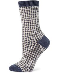 Ilux - Gigi Houndstooth Socks - Lyst