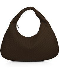 dede207a962e Bottega Veneta Large Intrecciato Hobo Bag in Brown - Lyst