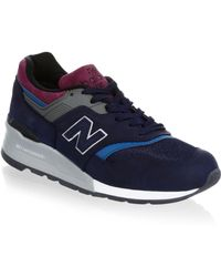 New Balance | Lace-up Suede Trainers | Lyst