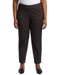 Lafayette 148 New York - Stanton Italian Stretch-cotton-blend Pants - Lyst