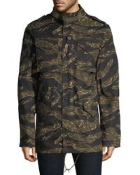 3fed36ee8d1c3 Maharishi Tiger Patch Quilted Bomber Jacket in Green for Men - Lyst
