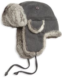 Saks Fifth Avenue - Collection Rabbit Fur Aviator Hat - Lyst