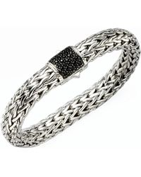 John Hardy | Classic Chain Black Sapphire & Sterling Silver Large Bracelet | Lyst