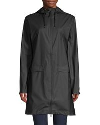 Rains - Hooded Zip-up Mackintosh - Lyst