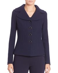 St. John - Caviar Collection Fitted Boucle Knit Jacket - Lyst
