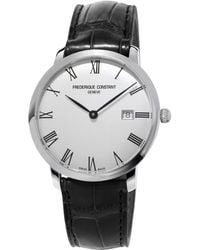 Frederique Constant - Slimline Automatic-self-wind Stainless Steel Watch - Lyst