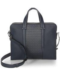 Ferragamo | Gancio Textured Leather Briefcase | Lyst