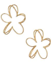 Oscar de la Renta - Pewter Botanical Scribble Earrings - Lyst