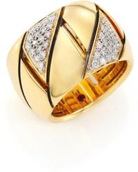 Roberto Coin | Appassionata Diamond, 18k Yellow Gold & 18k White Gold Ring | Lyst