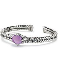 David Yurman - Chã¢telaine® Sterling Silver, Gemstone & Diamond Bracelet - Lyst