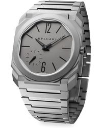 BVLGARI - Octo Finissimo Titanium Bracelet Watch - Lyst