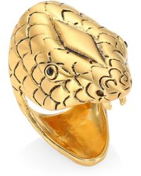 Saint Laurent - Chameleon Goldtone Statement Ring - Lyst