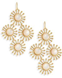 Nest - Starburst Mother-of-pearl Chandelier Earrings - Lyst