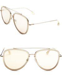 Alice + Olivia - Lincoln Gold 58mm Aviator Sunglasses - Lyst