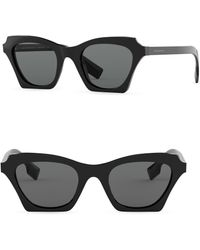 8cf01edf8f55 Lyst - Burberry 58mm Aviator Sunglasses in Black for Men
