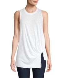 Stateside - Knotted Slub Jersey Tank Top - Lyst