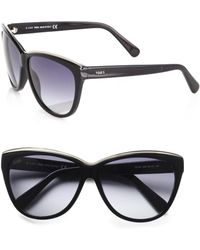 Tod's - Metal Rim Classic Cat's-eye Sunglasses/black - Lyst