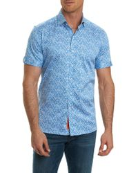 Robert Graham - Short-sleeve Paisley Print Button-down Shirt - Lyst